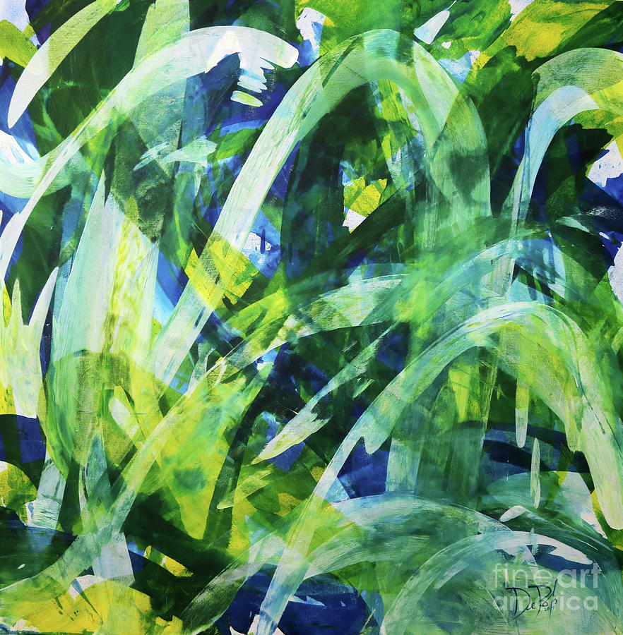 Abstract Painting - Ocean Forest by JoAnn DePolo