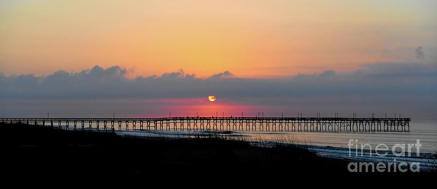 Ocean Isle Beach - Sunrise at the Pier by Kerri Farley