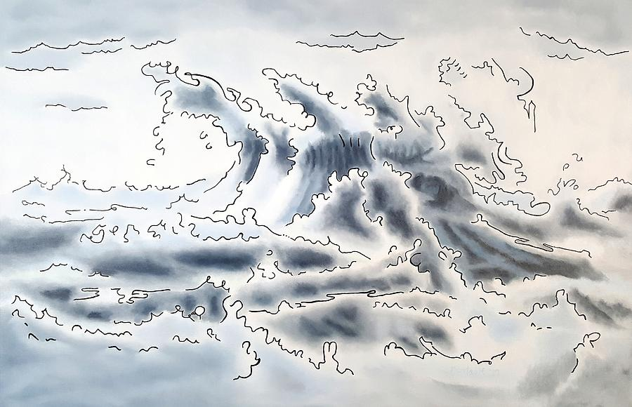 Ocean Painting - Ocean Rising by Dave Martsolf