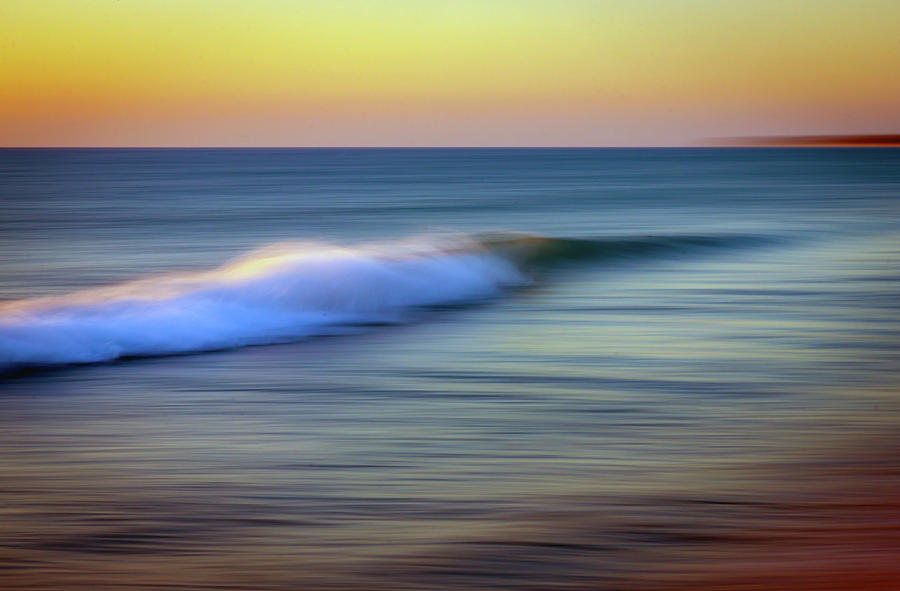 Ocean Shore Abstract by R Scott Duncan