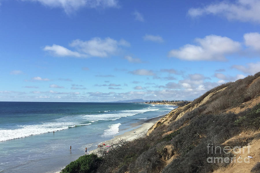 Ocean Surf In Carlsbad, California by Kirt Tisdale
