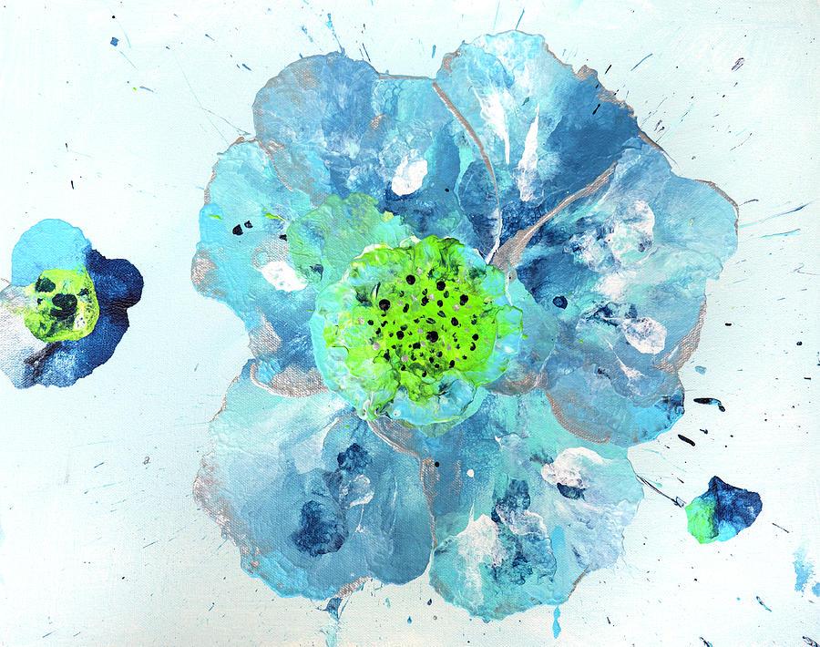 Flower Photograph - Oceanbreeze Blue-green Windflower by Iris Richardson