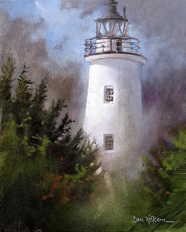 Ocracoke Light Painting by Dan Nelson