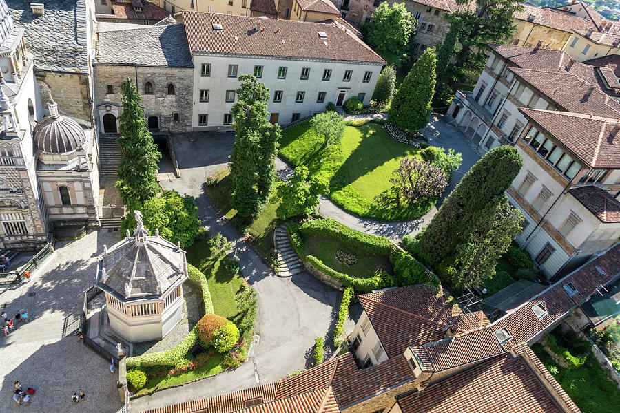 Octagonal Baptistery and Private Garden - Citta Alta Upper Town in Bergamo Lombardy Italy by Georgia Mizuleva