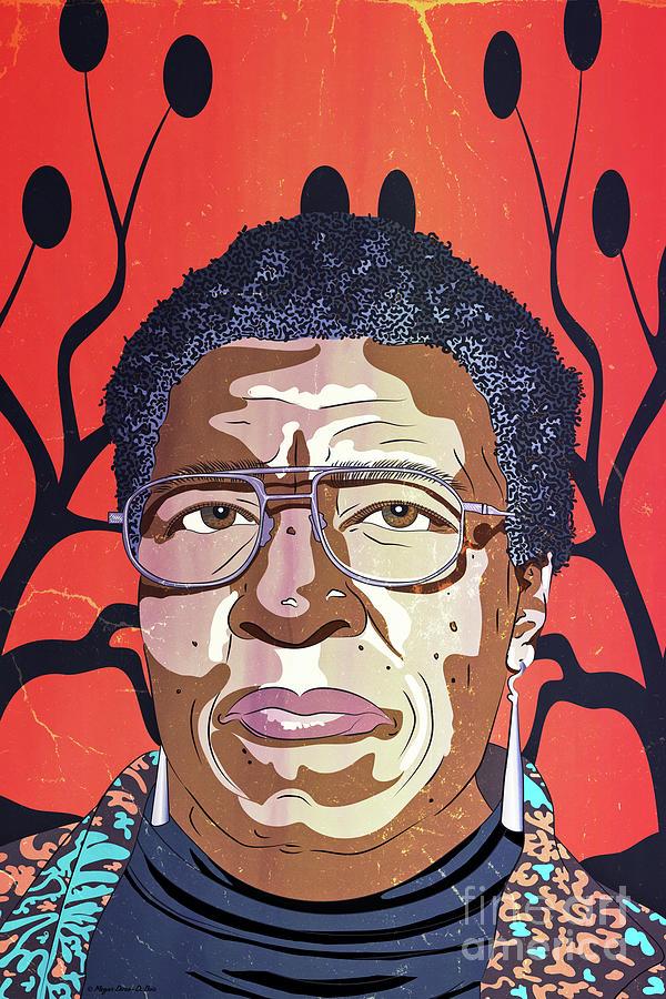 Octavia Butler Portrait by Megan Dirsa-DuBois