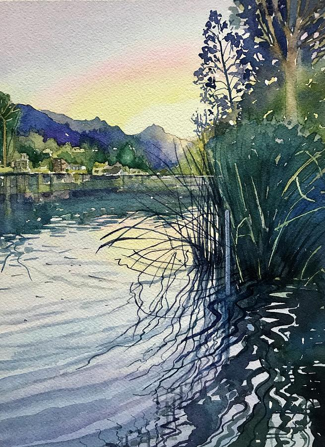 October Light At The Dock Painting