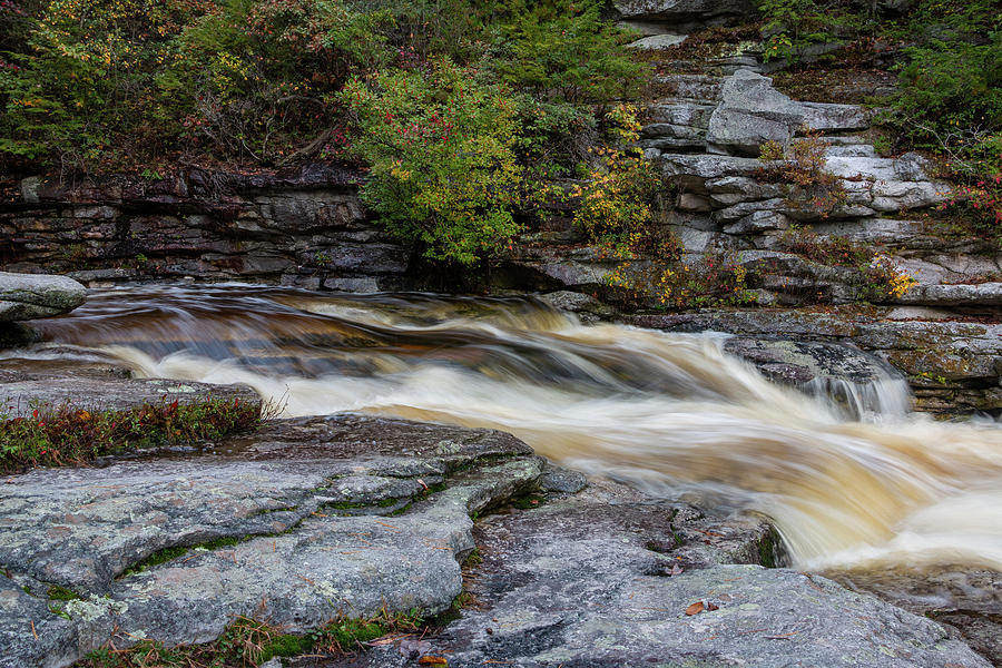 Waterfall Photograph - October Morning on the Peterskill II by Jeff Severson