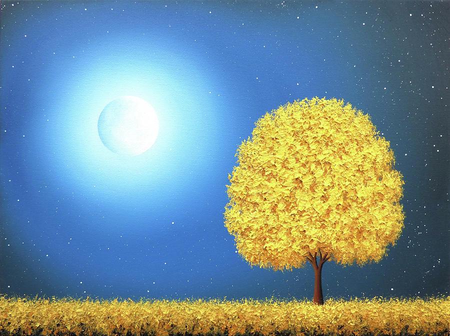 Gold Painting - October Nights by Rachel Bingaman