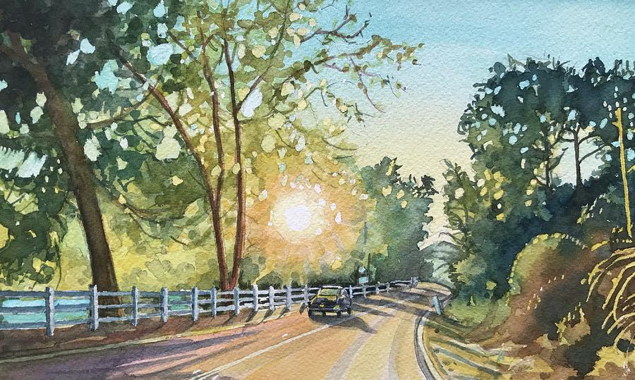 October Road Painting
