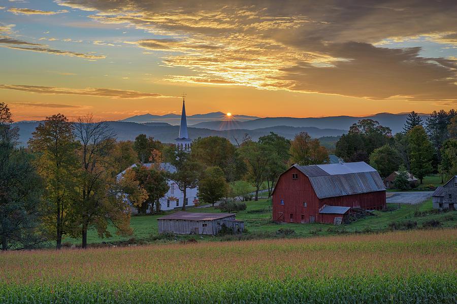 October Sunrise in Peacham by Kristen Wilkinson