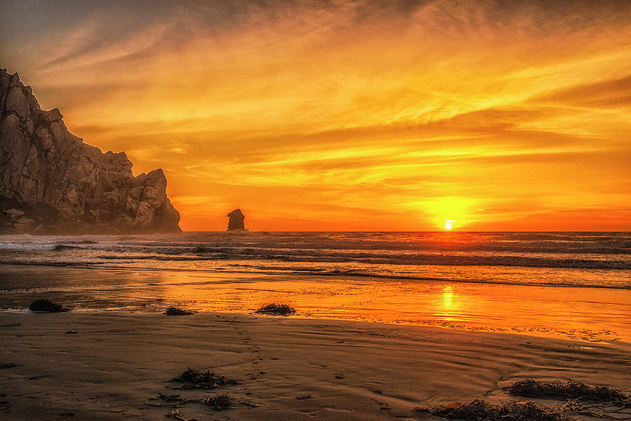 Beach Photograph - October Sunset by Fernando Margolles