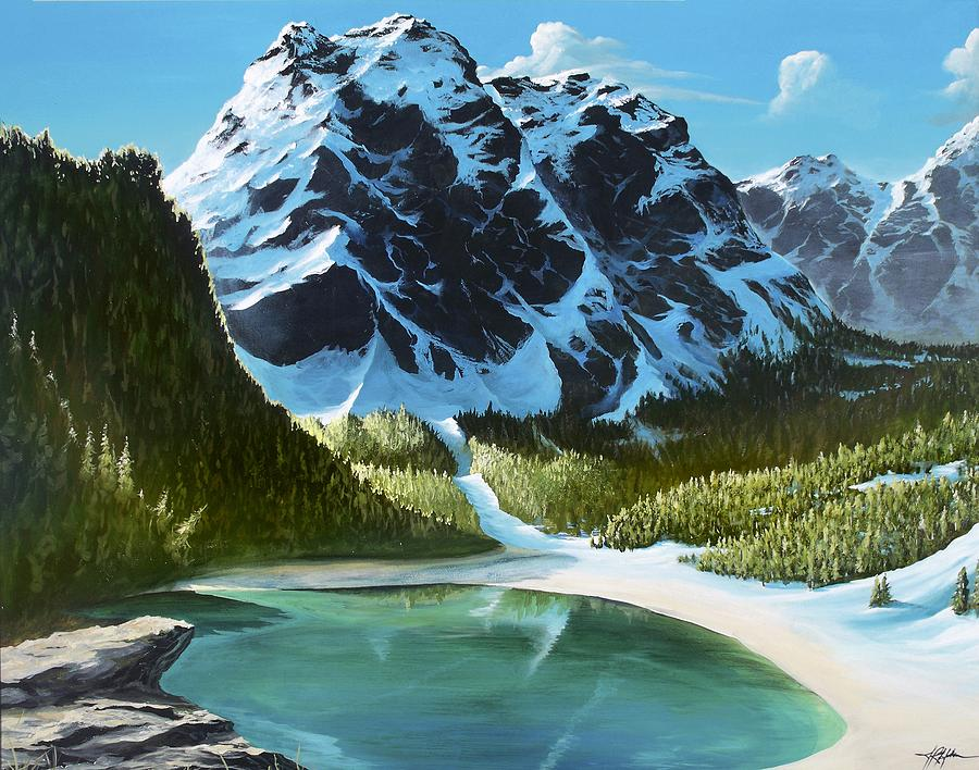 Mountain Painting - Ode To Louise by James R Hahn