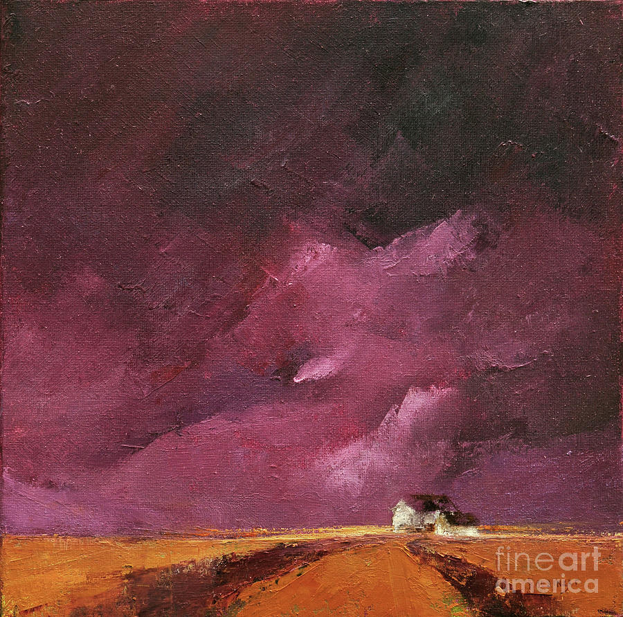 Purple Painting - Ode to Tyrian Purple by Paint Box Studio
