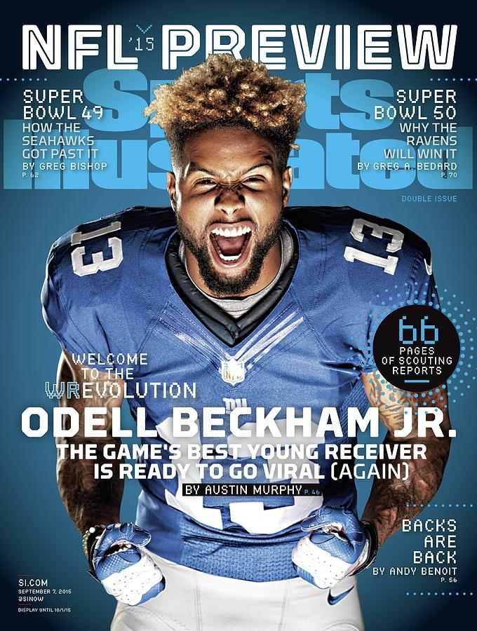 Odell Beckham Jr. Welcome To The Wrevolution, 2015 Nfl Sports Illustrated Cover Photograph by Sports Illustrated
