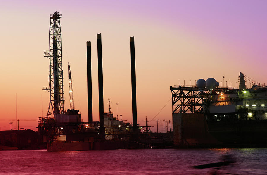 Off Shore Drilling Rig  Dry Docks For Photograph by Fstop123