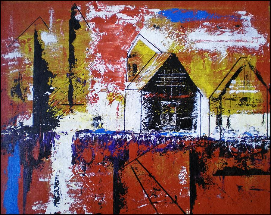 Abstract Painting - Off Some Forgotten Highway by Scott Haley