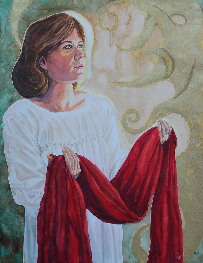 Portrait Mixed Media - Offering The Issue by Kirsten Beitler