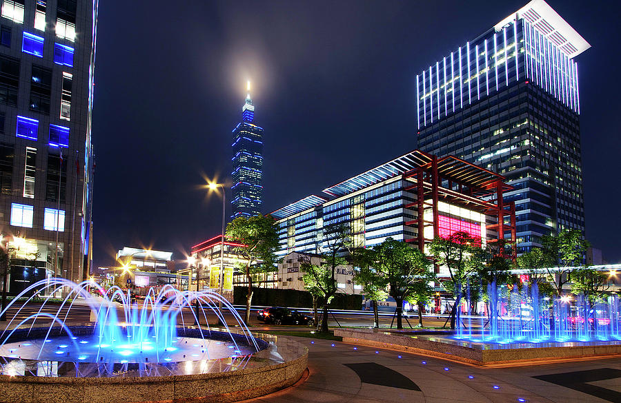 Office Buildings In Taipei Photograph by Christopher Chan