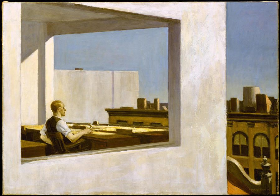 Edward Hopper Painting - Office In A Small City  by Edward Hopper