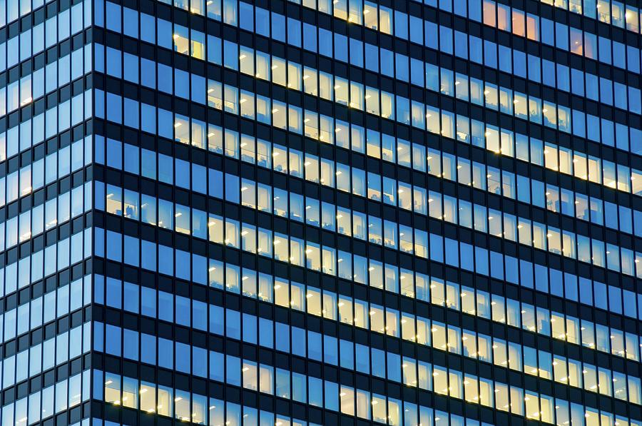 Office Windows West Shinjuku Tokyo Photograph by Tom Bonaventure