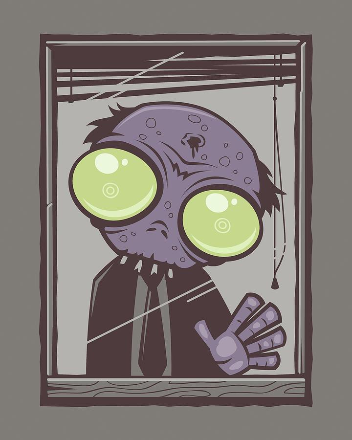 Rot Digital Art - Office Zombie by John Schwegel