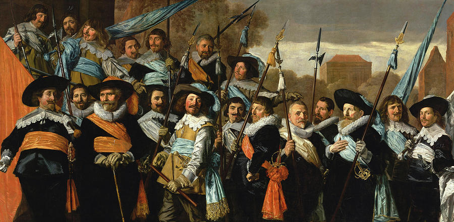 Frans Hals Painting - Officers And Sergeants Of The St George Civic Guard, 1639 by Frans Hals