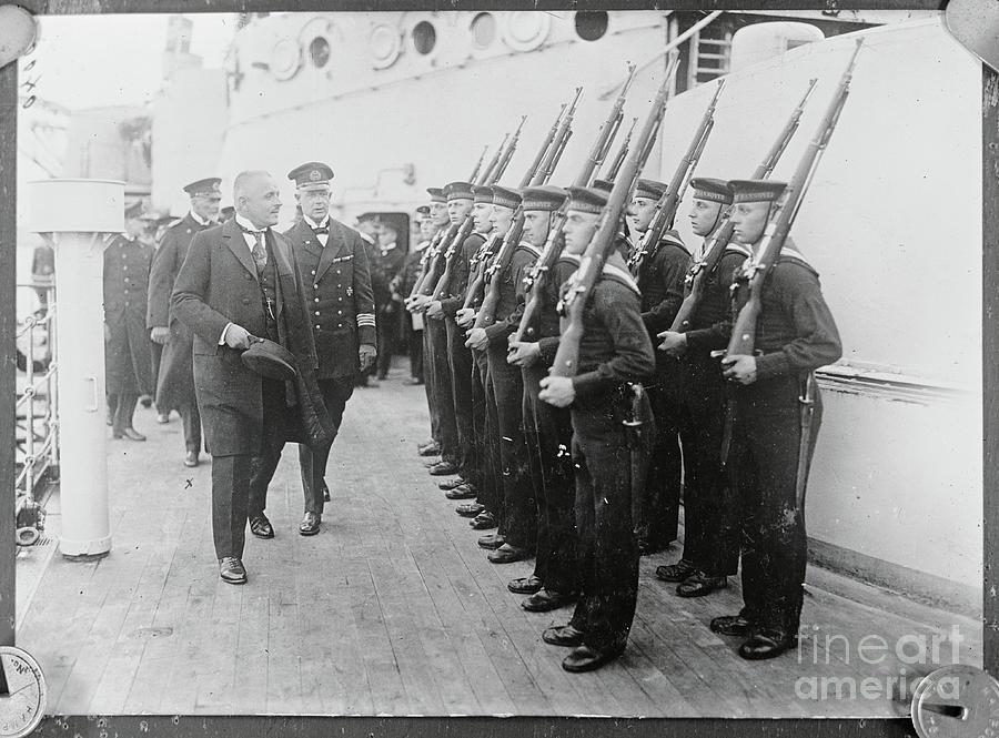 Officers Inspecting German Sailors Photograph by Bettmann