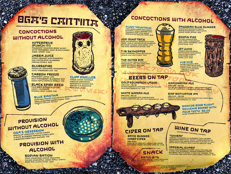 Food Photograph - Ogas Cantina Complete Bar Menu by David Lee Thompson