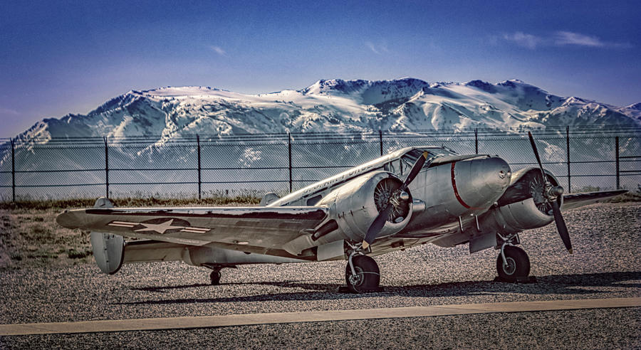 Airplane Photograph - Ogden Airplane by Laura Terriere