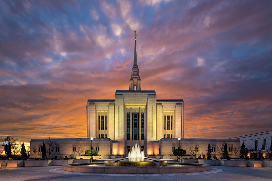 Ogden LDS Temple Sunset by Michael Ash