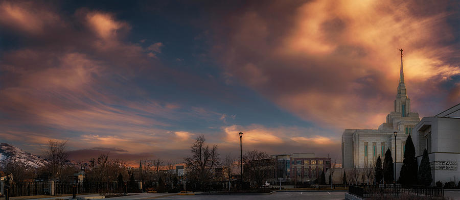 Ogden Sunset at LDS Temple by Michael Ash