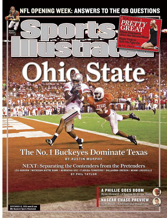 Ohio State Ted Ginn Jr... Sports Illustrated Cover Photograph by Sports Illustrated
