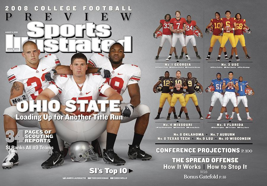 Ohio State University, 2008 College Football Preview Issue Sports Illustrated Cover Photograph by Sports Illustrated