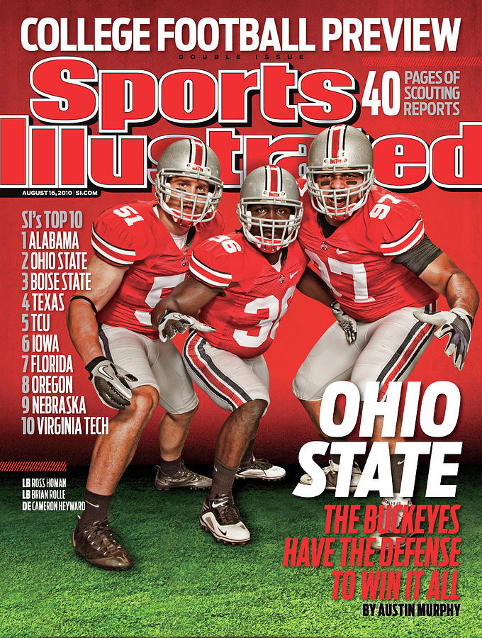 Ohio State University, 2010 College Football Preview Issue Sports Illustrated Cover Photograph by Sports Illustrated