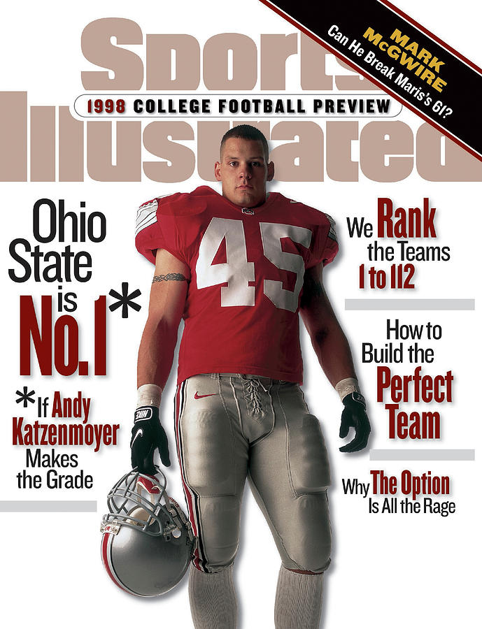 Ohio State University Andy Katzenmoyer, 1998 College Sports Illustrated Cover Photograph by Sports Illustrated