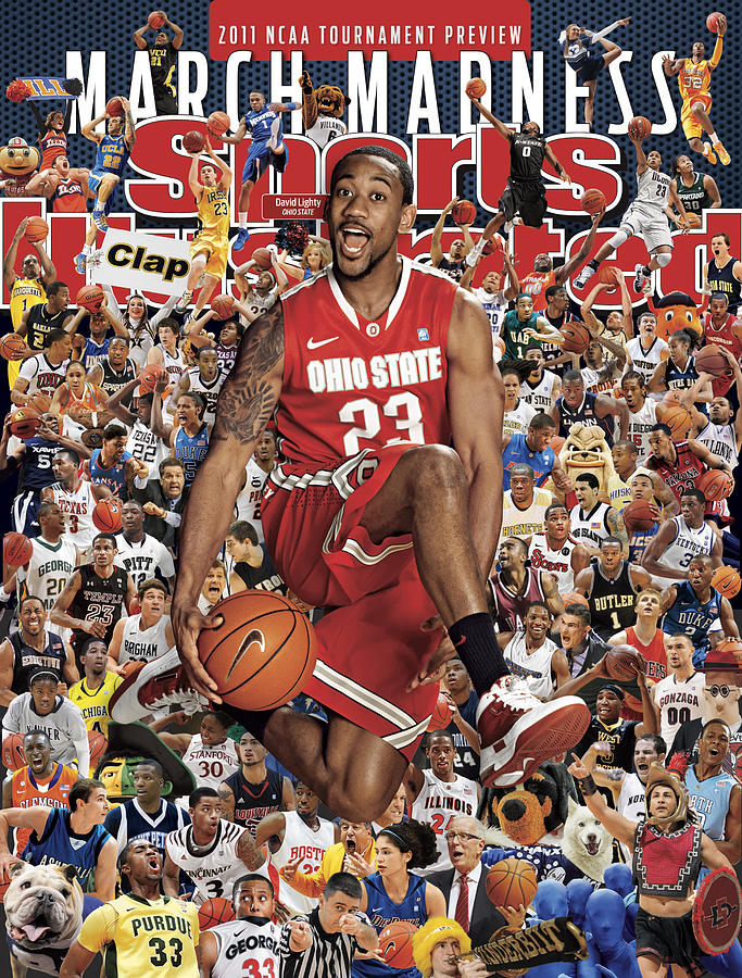 Ohio State University David Lighty, 2011 March Madness Sports Illustrated Cover Photograph by Sports Illustrated