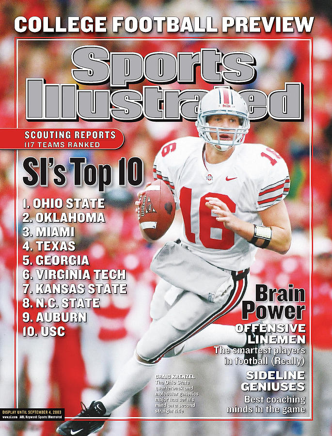 Ohio State University Qb Craig Krenzel, 2003 College Sports Illustrated Cover Photograph by Sports Illustrated