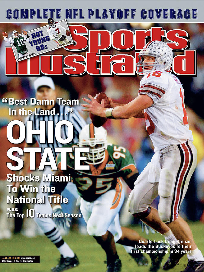 Ohio State University Qb Craig Krenzel, 2003 Tostitos Sports Illustrated Cover Photograph by Sports Illustrated