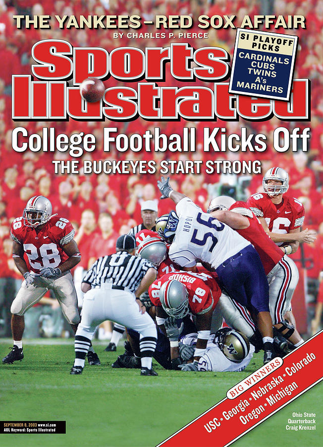 Ohio State University Qb Craig Krenzel Sports Illustrated Cover Photograph by Sports Illustrated