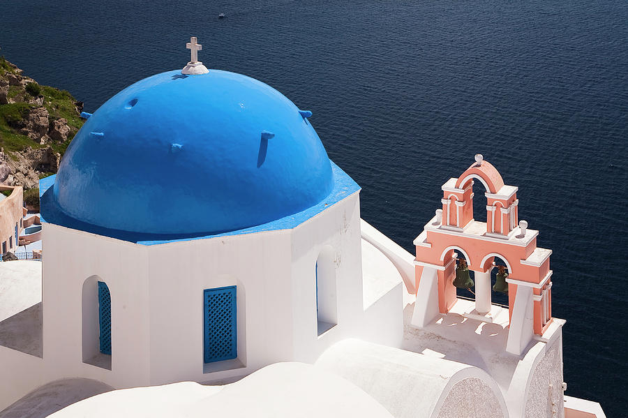 Oia Church Photograph by Vasilis Tsikkinis Photos