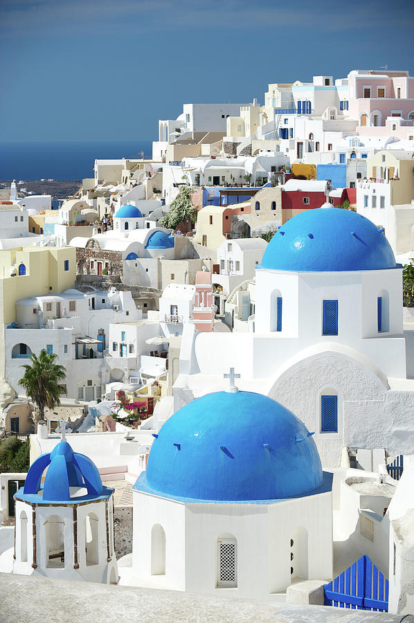 Oia Village Santorini Blue Greek Photograph by Peskymonkey