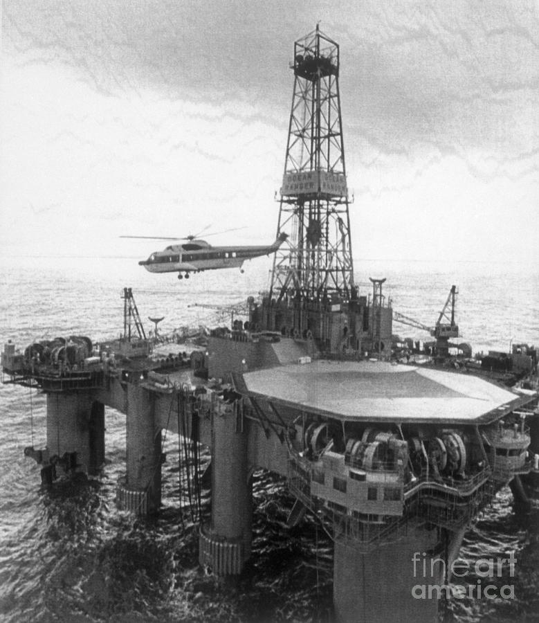 Oil Canada Rig Ocean Ranger Photograph by Bettmann