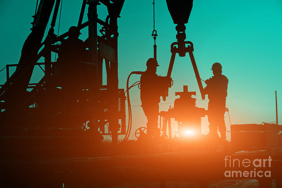 Oilfield Photograph - Oil Drilling Exploration, The Oil by Pan Demin