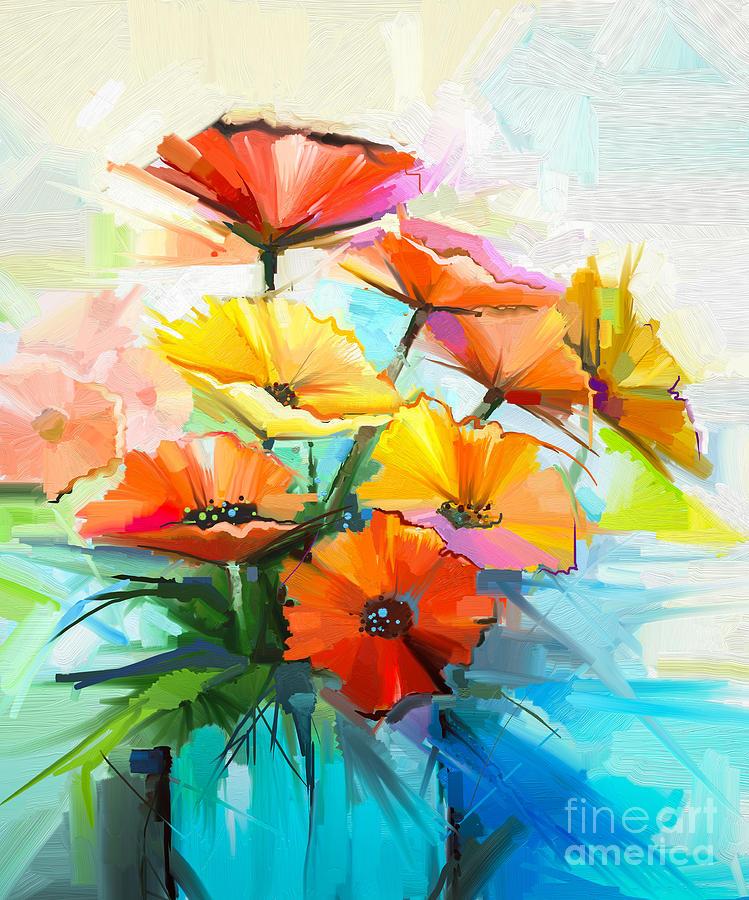 Fragrances Digital Art - Oil Painting Spring Flower Background by Pluie r