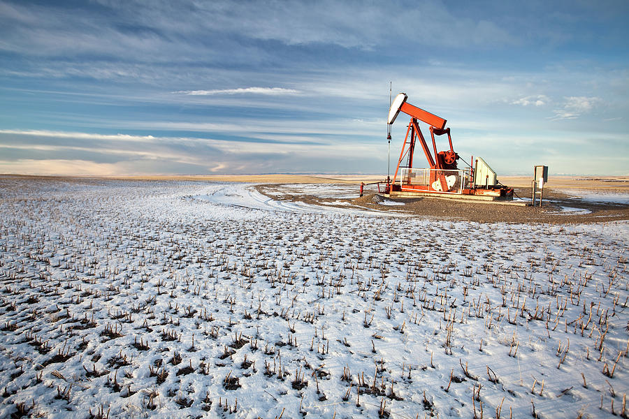 Oil Pumpjack In Southern Alberta Photograph by Imaginegolf