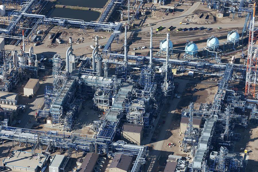 Oil Refinery Aerial Photo Photograph by Dan prat