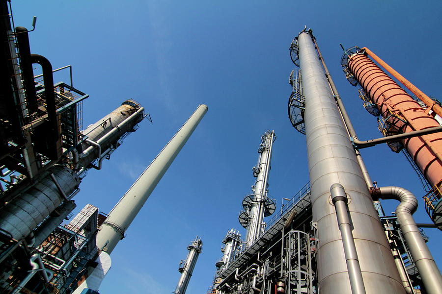 Oil Refinery, Hamburg, Germany Photograph by Hans-peter Merten
