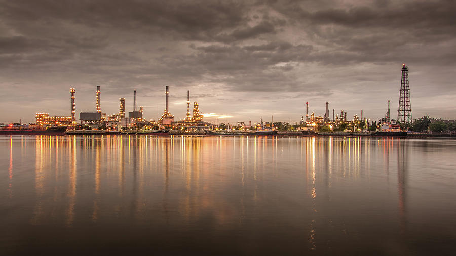 Oil Refinery Photograph by Ironheart