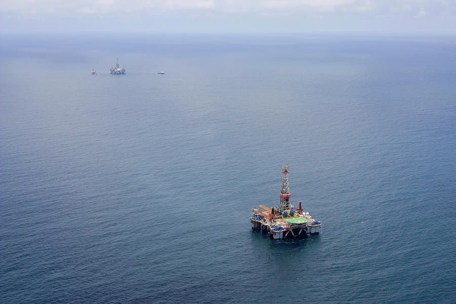 Oil Rigs Photograph by Heliry