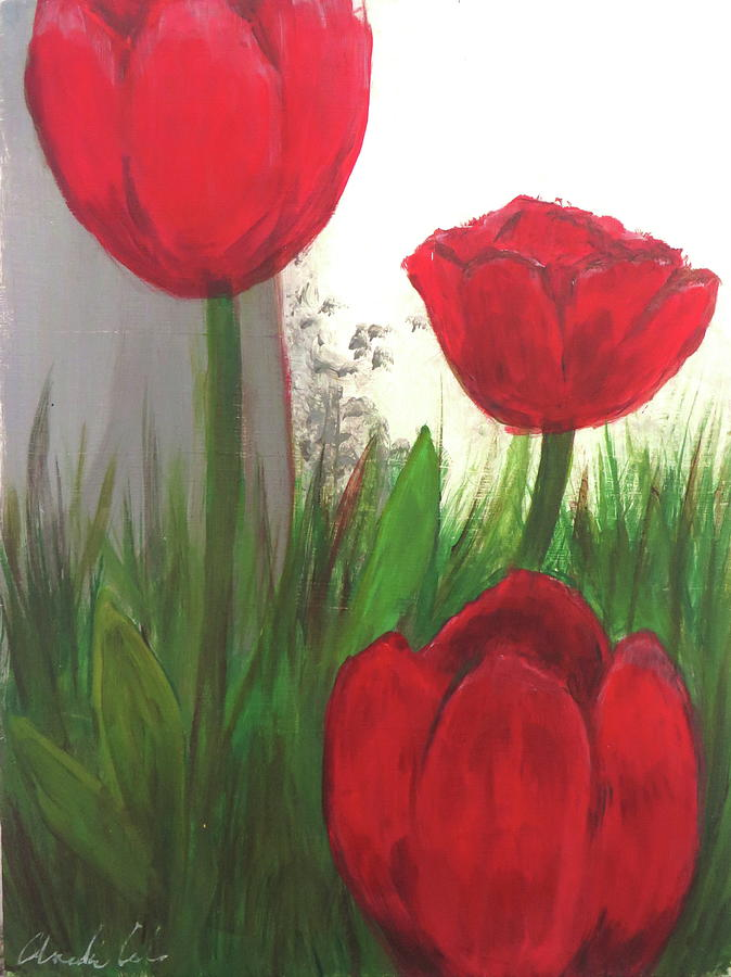 Oil Tank Tulips by Andrea Cole